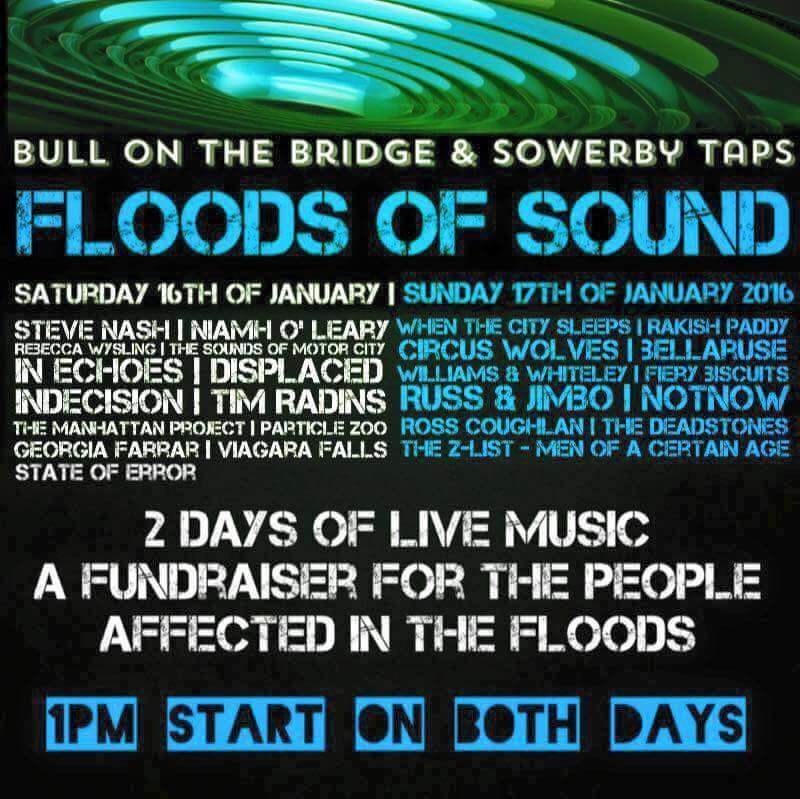 Floods of Sound Music Concert Flyer