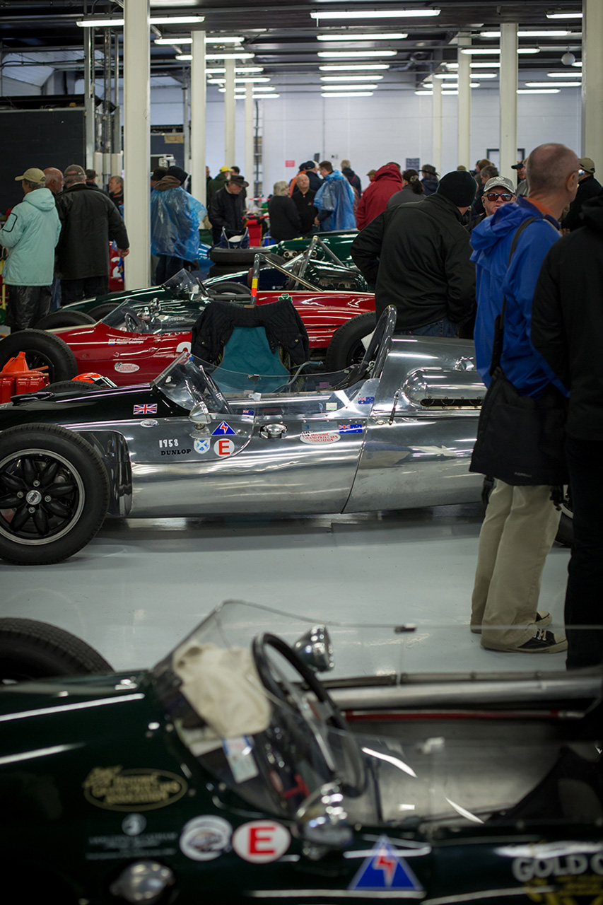 Traci Habergham Photography Silverstone Classic HGPCA Racing Cars in Pits