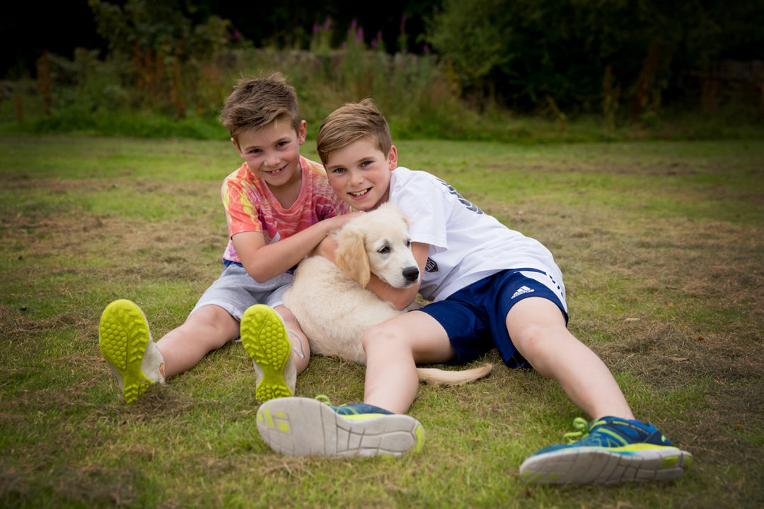 Traci Habergham Photography Huddersfield Family Shoot Children and new puppy