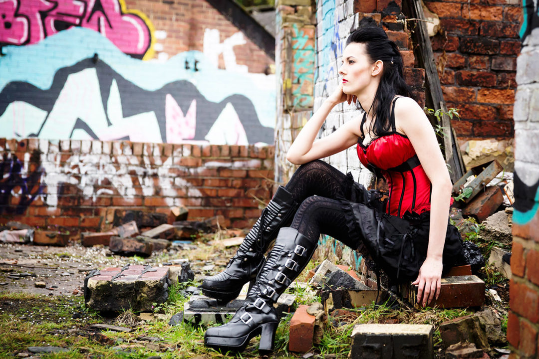 Traci Habergham Photography Huddersfield Model Graffiti Fashion Shoot