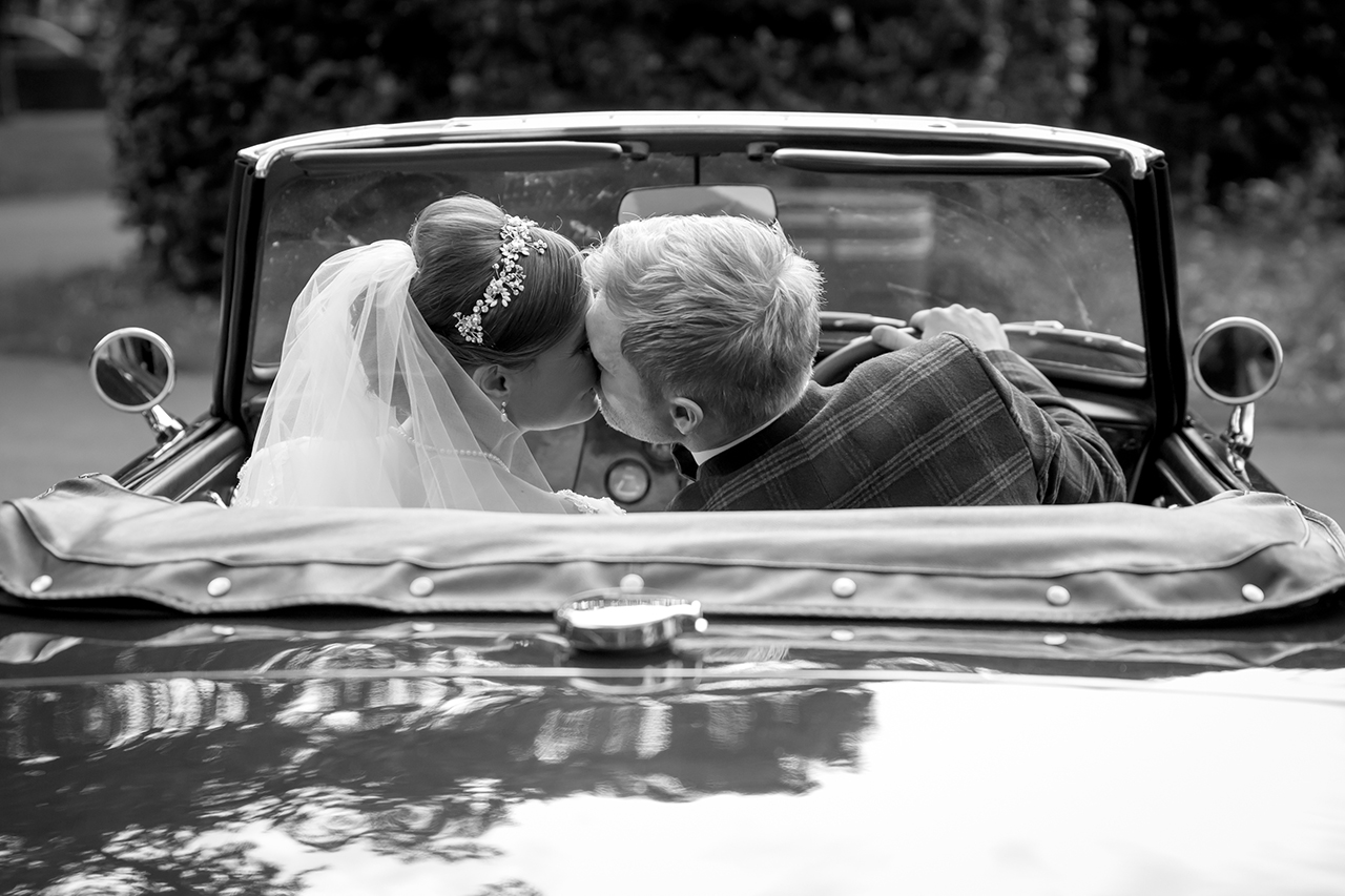 Traci Habergham Photography the happy couple in their MG