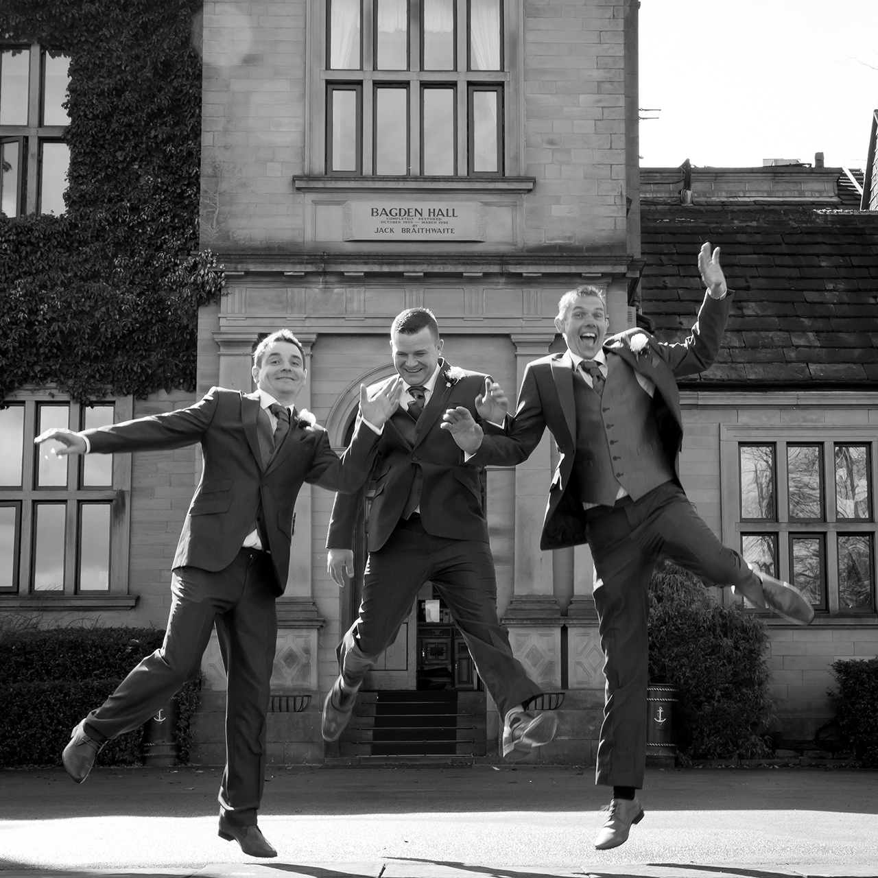 Traci Habergham Photography Bagden Hall Wedding Groom & Best Men