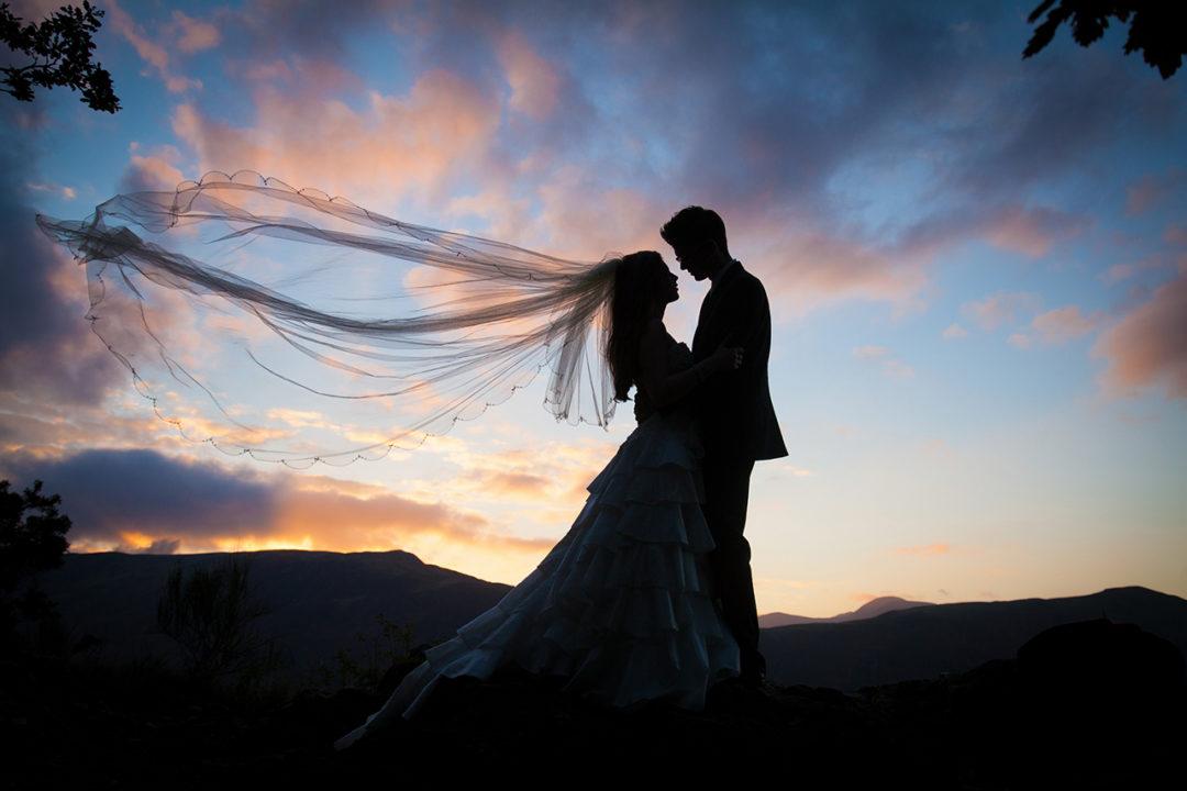 Traci Habergham Photography Lakes Wedding Silhouette