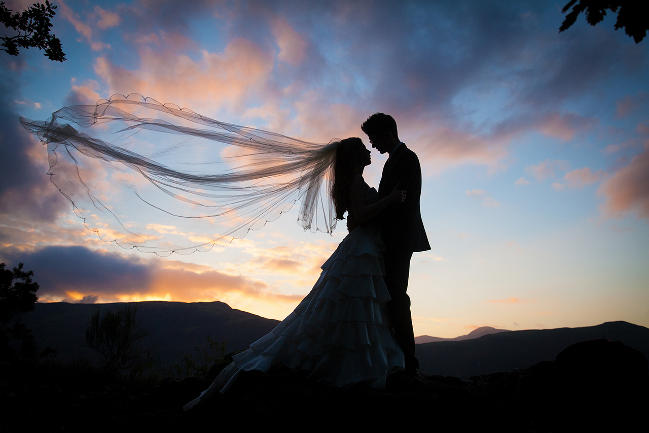 Traci Habergham Photography Lakes Wedding Silhouette