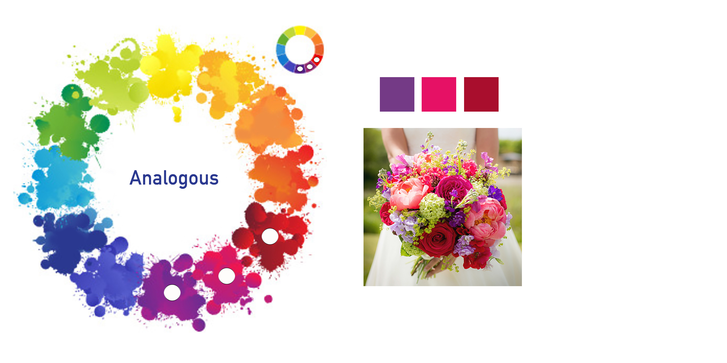 Colour Wheel Analogous photography example