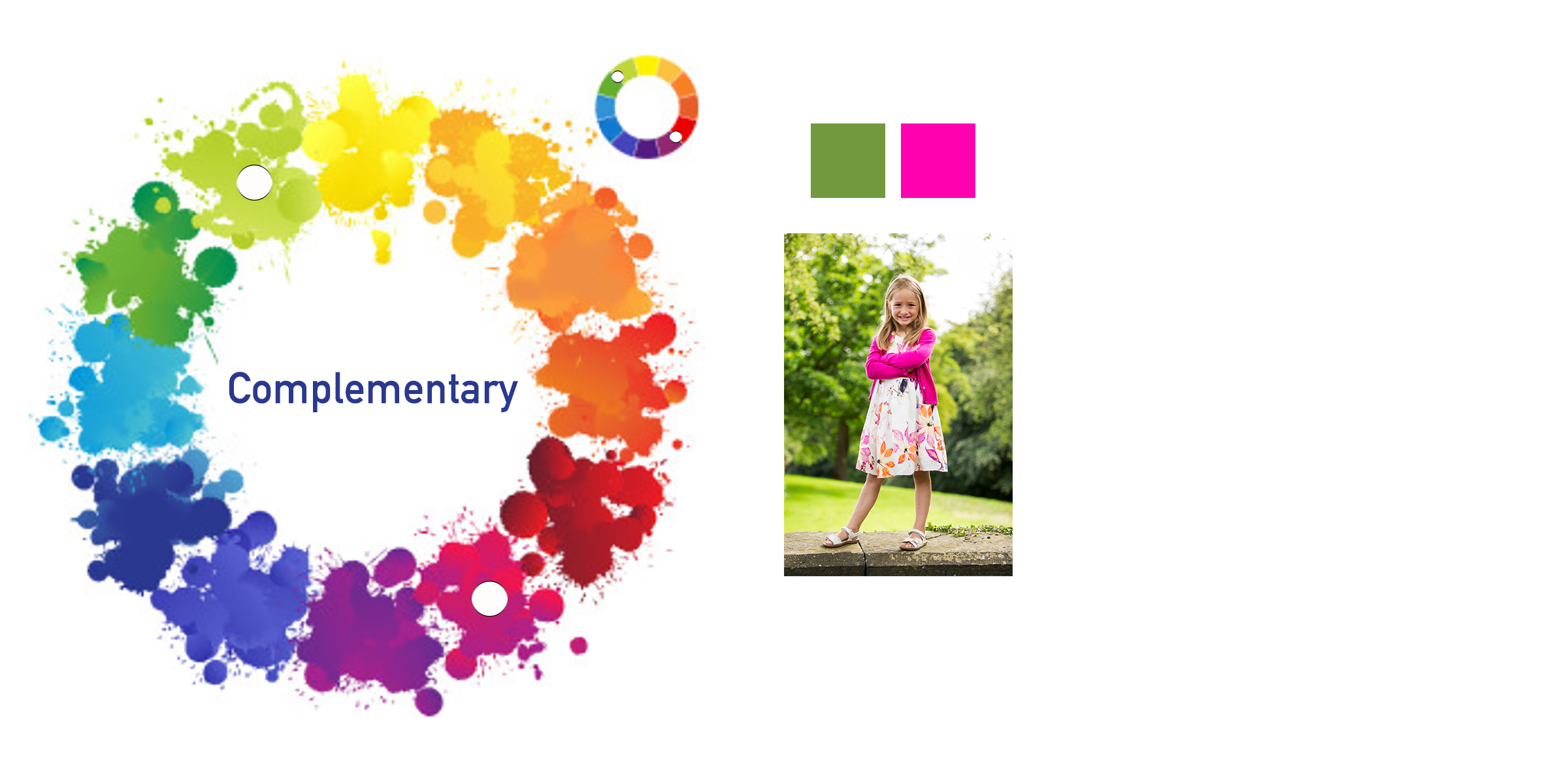 Colour Wheel Complementary Portrait Photography example